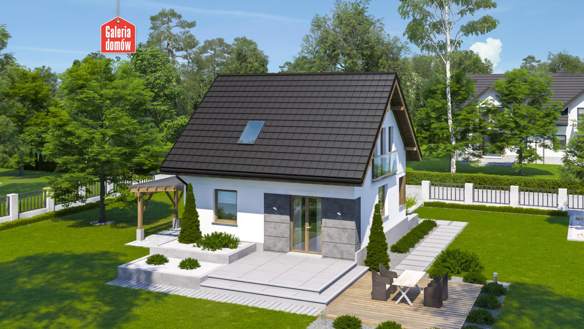 Dom przy Wiosennej 21 - widok od ogrodu
