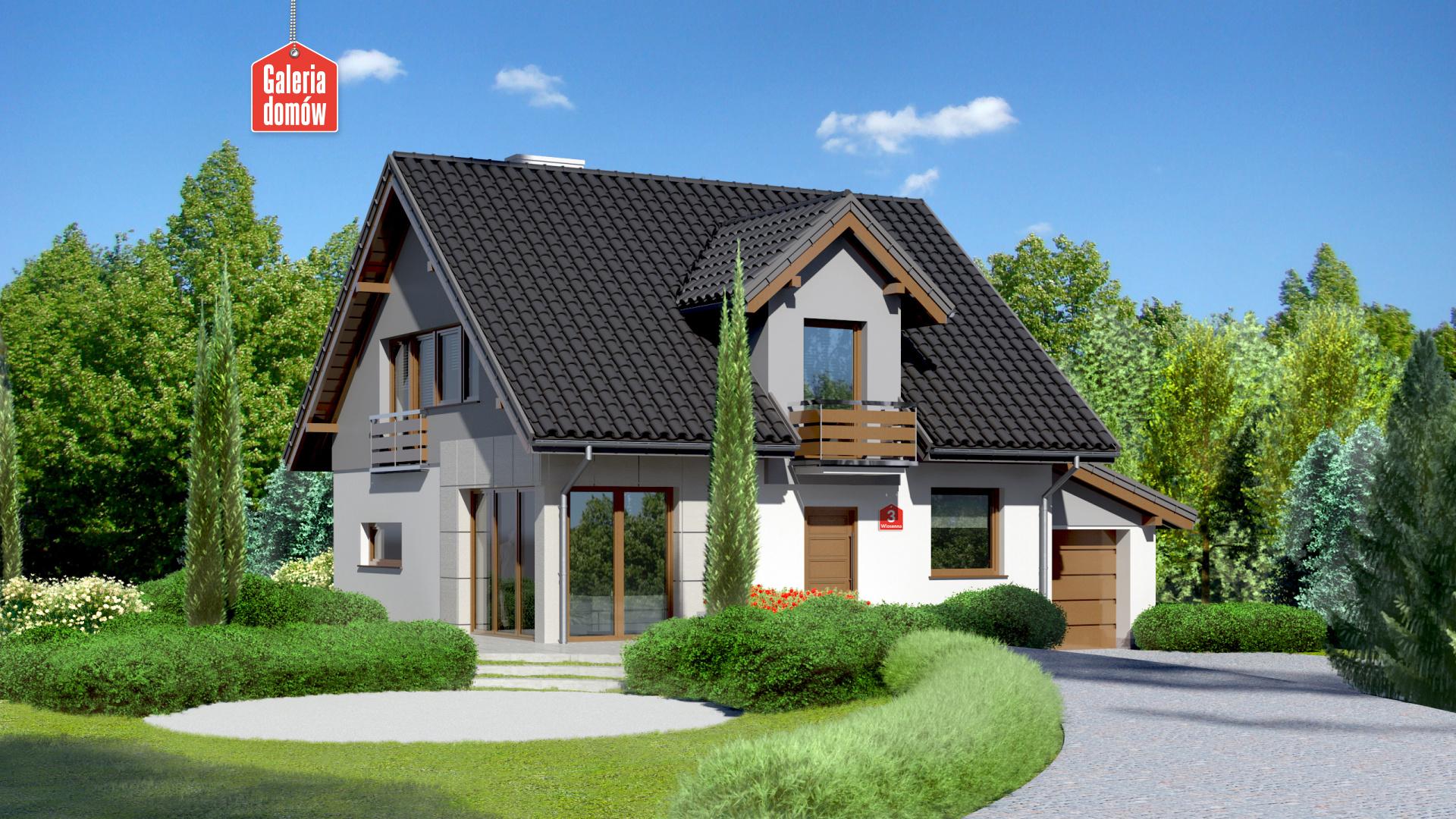Zdjęcie projektu i wizualizacja: projekt domu Dom przy Wiosennej 3