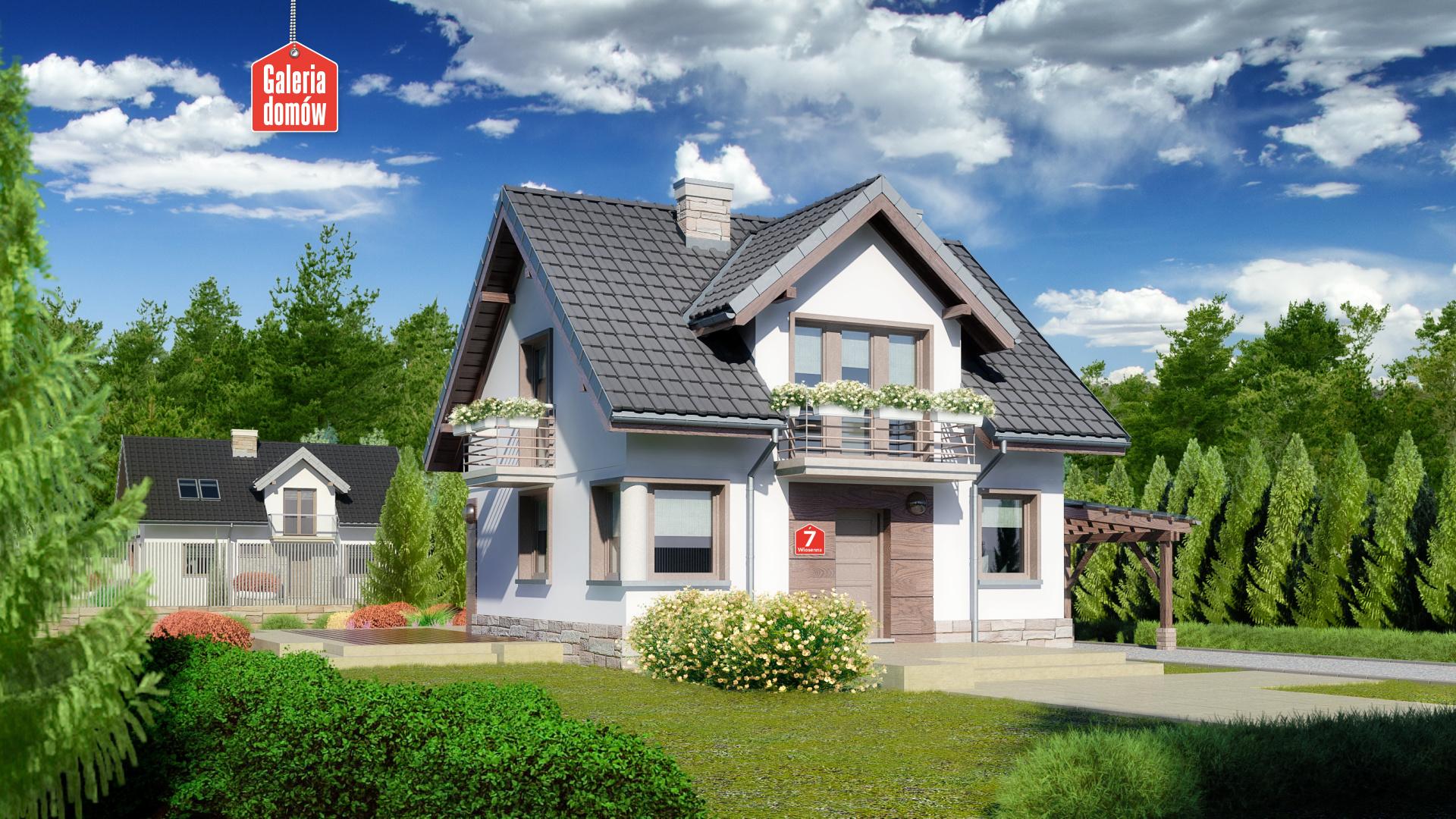 Zdjęcie projektu i wizualizacja: projekt domu Dom przy Wiosennej 7